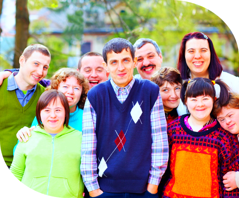 group of autistic people